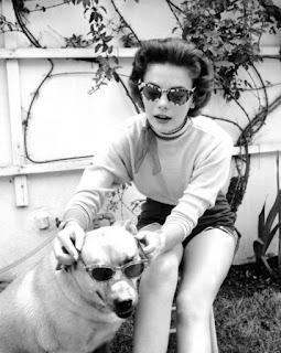 Natalie Wood y su perro