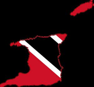 Trinidad and Tobago Flag map