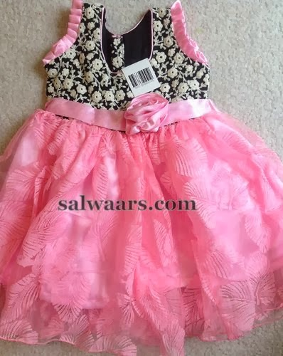 Baby Pink Designer Frock Indian Dresses
