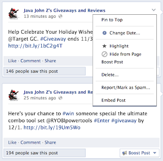 Embed Post Facebook Menu