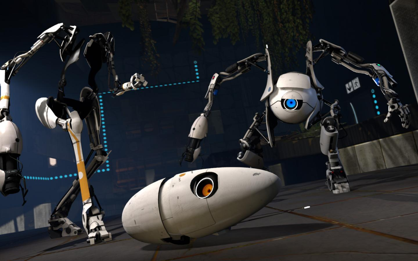 Atlas and P Body Portal 2 Wallpaper