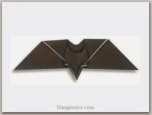 Cách gấp, xếp con doi Halloween bằng giấy origami - Video hướng dẫn xếp hình Halloween - How to fold a Bat