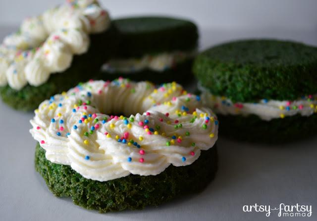 Green Velvet Donuts & Whoopie Pies