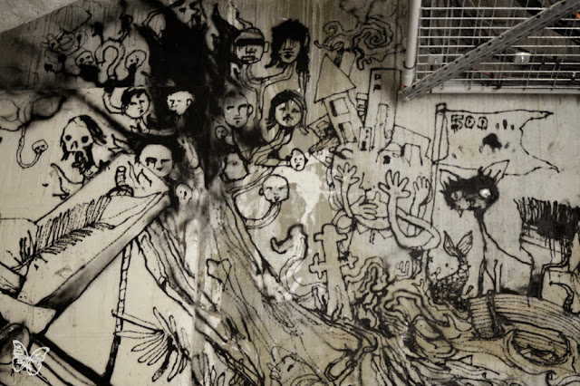 New Indoor Mural By The Popular French Street Artist Dran For The Lasco Project - Palais De Tokyo, Paris. 4