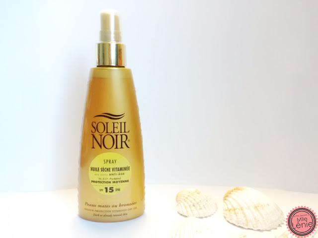 Spray Huile Sèche Vitaminée spf15 Soleil Noir