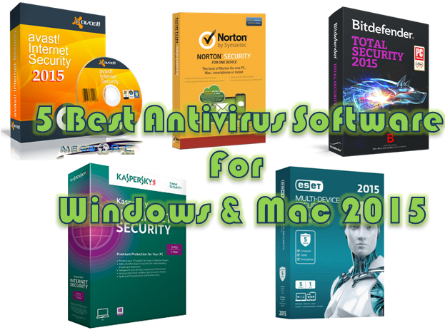 5 Best Antivirus Software For Pc Windows And Mac In 2015: anti virus programs