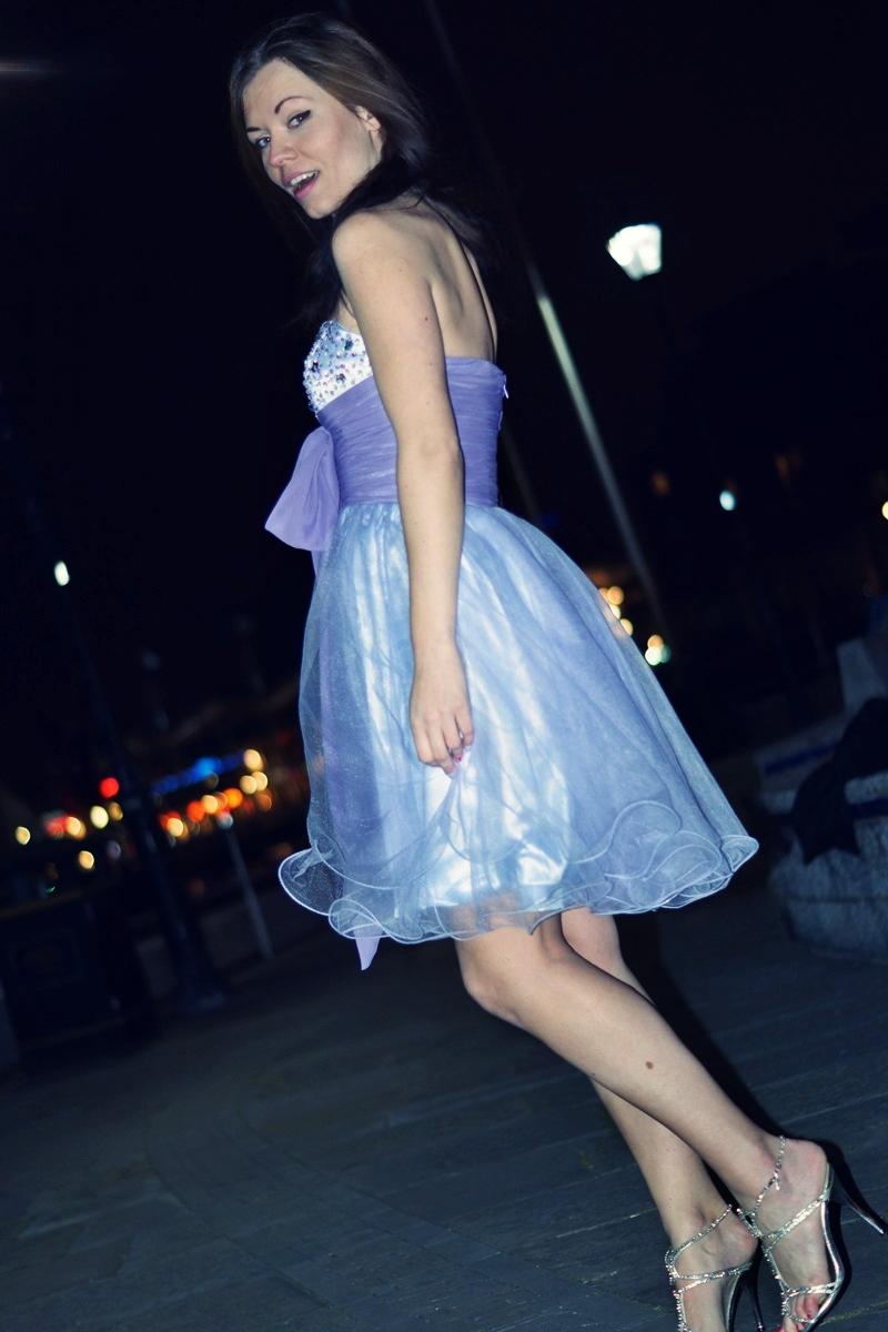 Party purple pink dress
