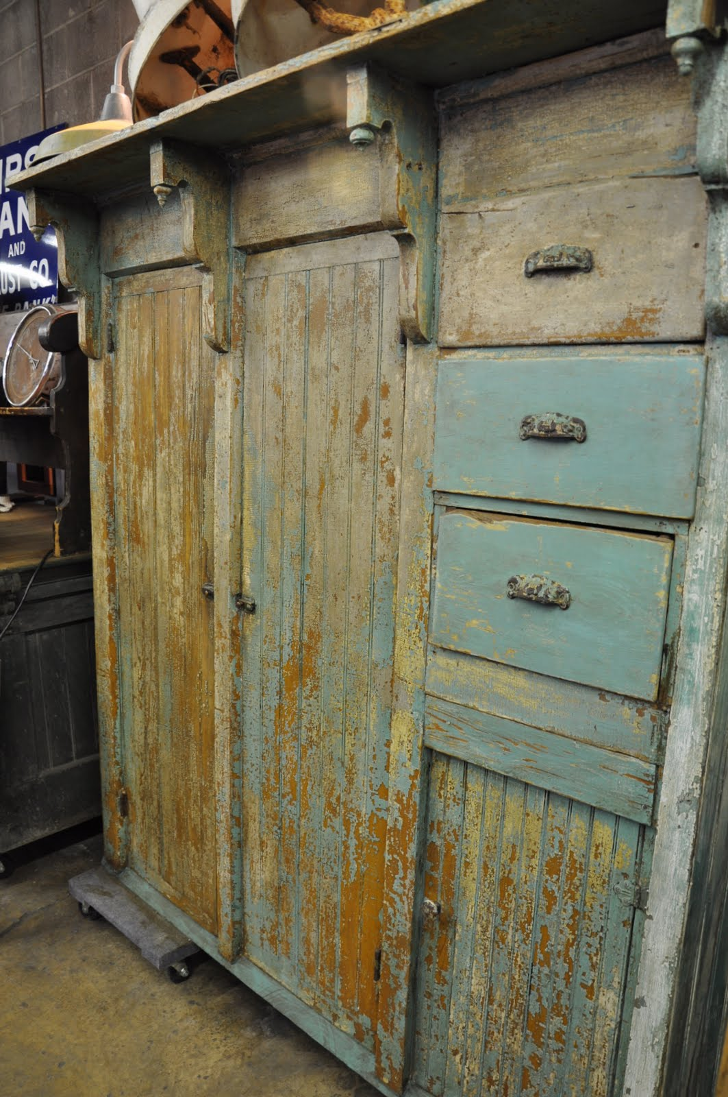 Oklahoma Barn Market Architectural Salvage Cupboard