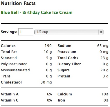 Cake Ice Cream Calories Perfectend for