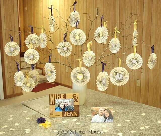 Honeysuckle lane simple wedding shower decorations