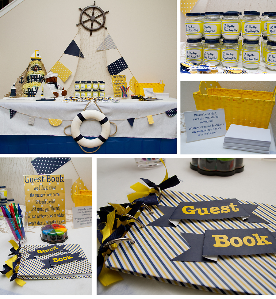Life in print: A Navy, White & Yellow Nautical Baby Shower