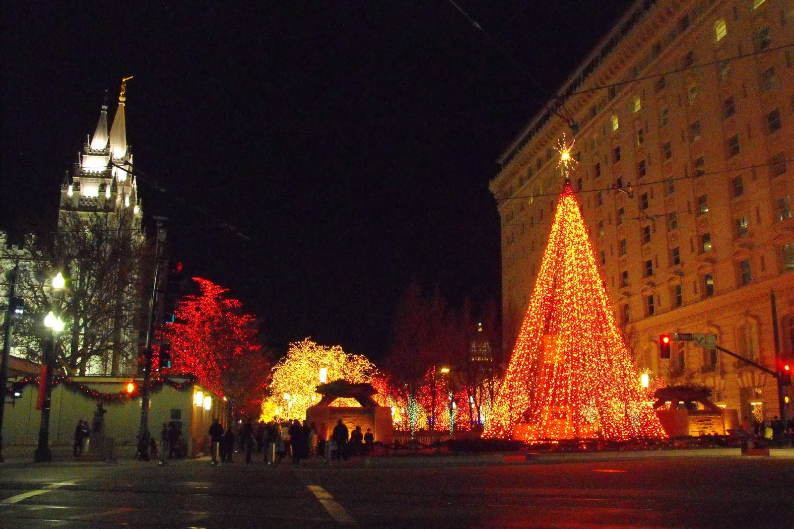christmas lights square border