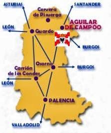 Localización geográfica de Aguilar de Campoo