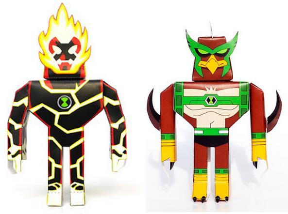 Cartoon Network Toys : Papermau ben aliens paper toys by dikids via