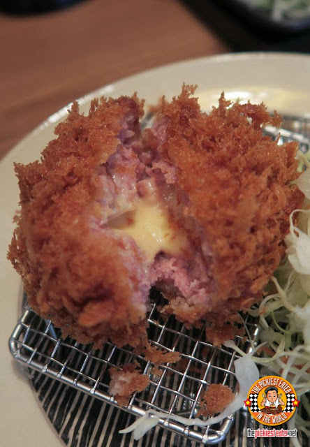 cheese minced pork katsu