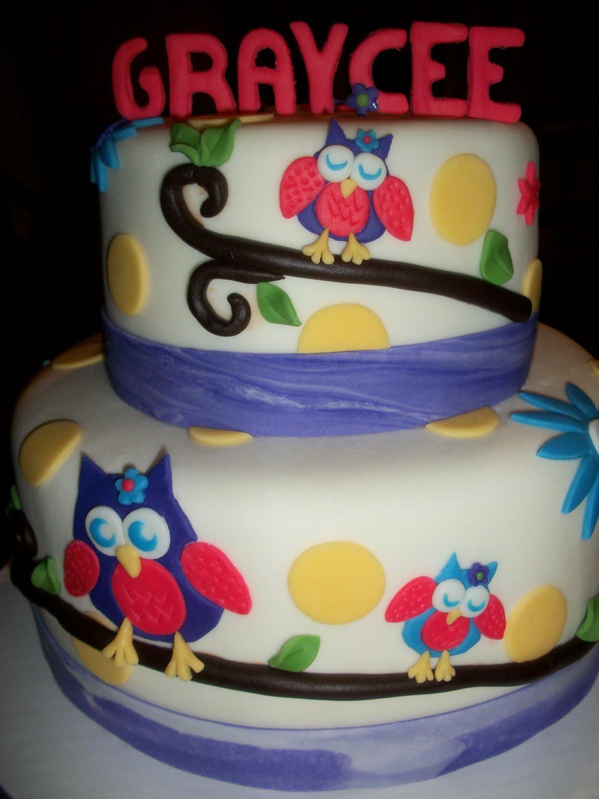 Edible Cake Image Owl : Edible Elegance: Owl party!