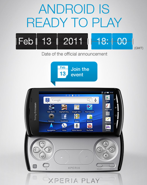 Sony Ericsson Xperia Play Smatphone images