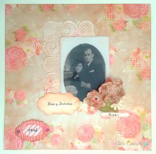 LO, layout, boda, recuerdos familiares, scrapbook, violín cantarín, violin cantarin