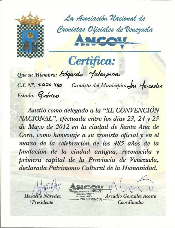 XL CONVENCIÓN DE CRONISTAS