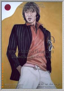 Shunsuke Nakamura Portrait Drawing Soccer Football Khaled3Ken Gallery STARS JAPAN