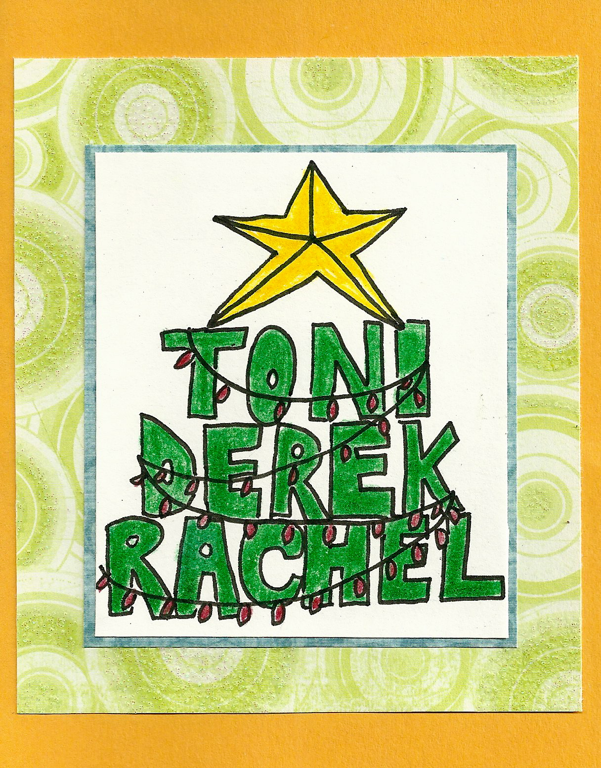 Debbie Dots Greeting Card Blog Christmas Name Tree