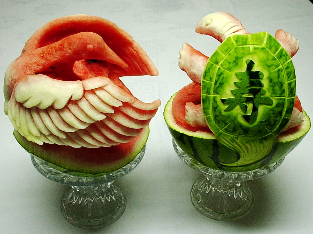 Watermelon sculpture by takashi itoh and vid nikolic