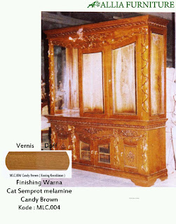 Contoh Furniture Semprot Melamine Candy Brown