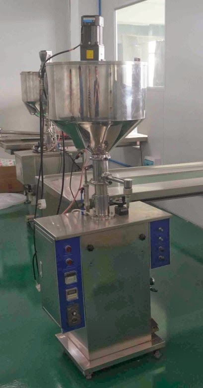heating mixing filling machine semi auto mixer filler heating system for thick high viscosity cream