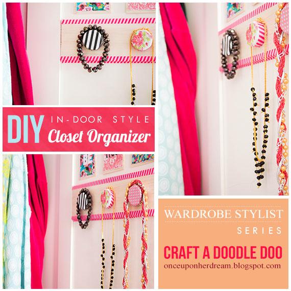 DIY closet organizer-in-door style!