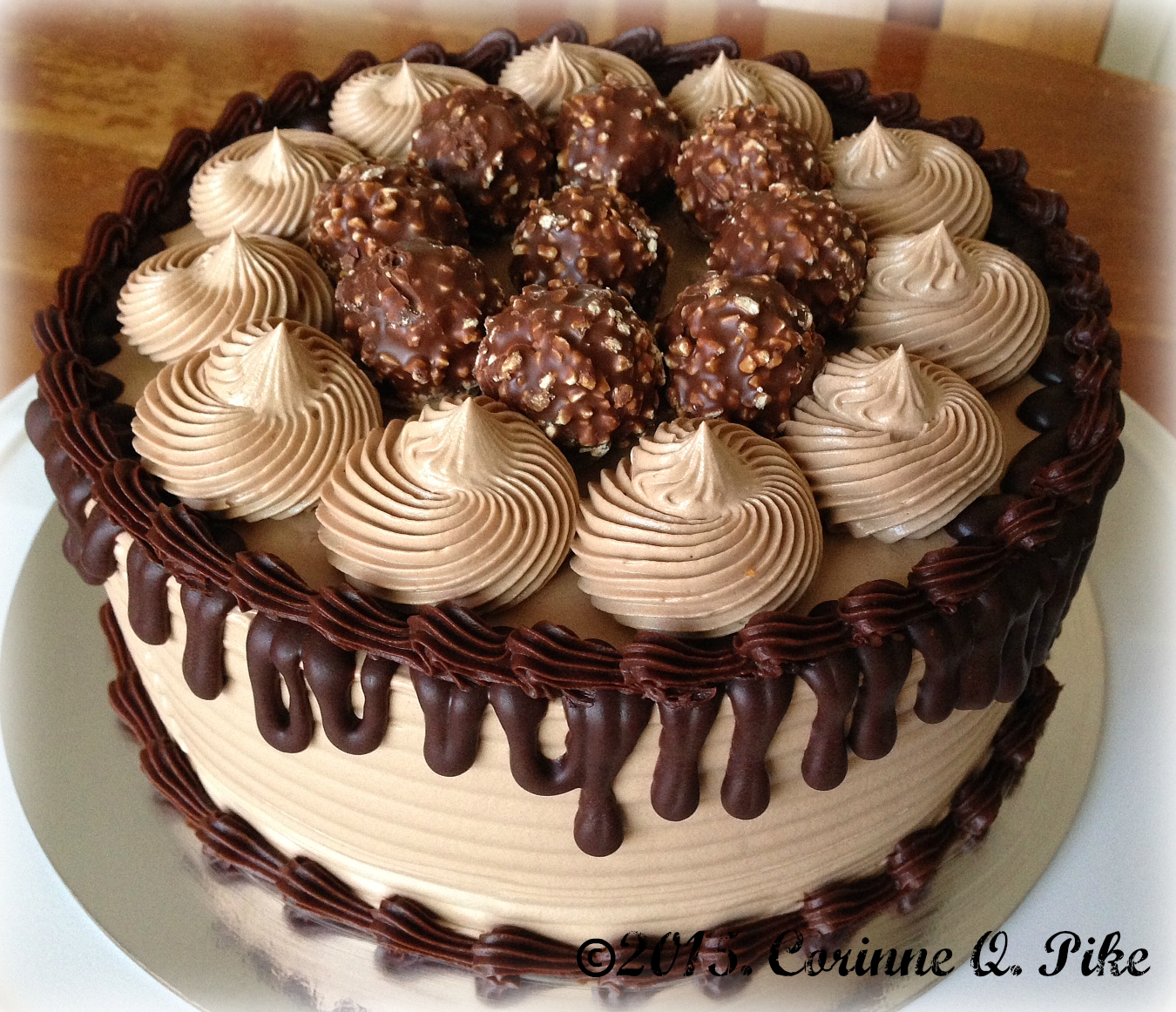 Chocolate Ferrero Rocher Cake With Nutella Ganache