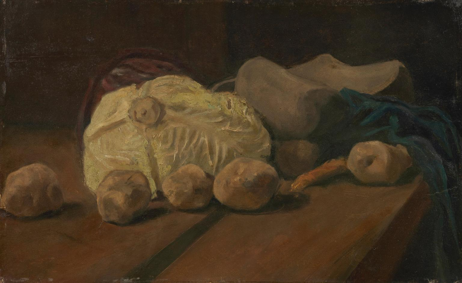 Still Life With Cabbage and Clogs by Vincent van Gogh
