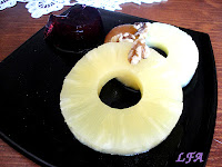 Postre de piña y gelatina