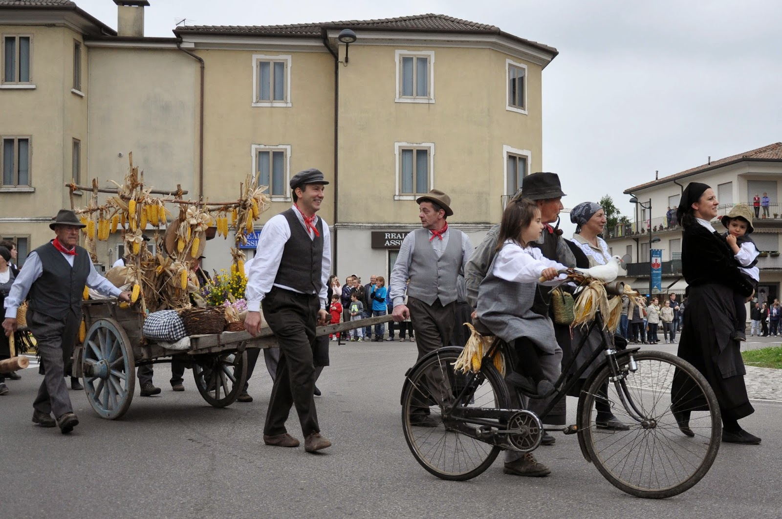 The white dove group at the Parade, Donkey Race, Romano d'Ezzelino, Veneto, Italy-3