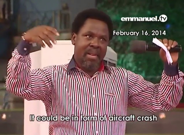 Malaysian Airlines MH17 flight disaster coincides with T.B. Joshua's prophecy?