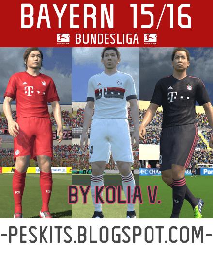 PES 2015 PC: Uniformes 2015/2016 Bayern Munich (Kit set)
