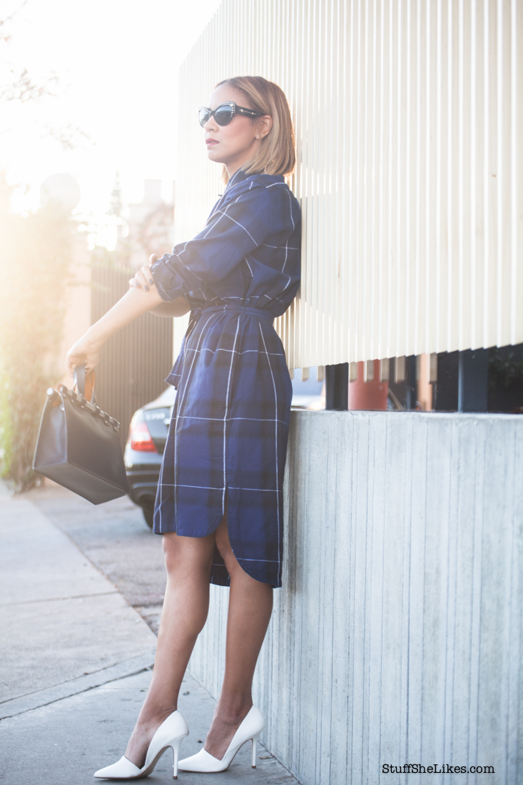 The perfect shirtdress, Gap, The Gap shirt dress, White pumps, classic pumps, zara, steve Madden, Top fashion blogger, best fashion blogger, black fashion blogger, ethnic fashion blogger, Los angeles fashion blogger, blonde fashion blogger, short hair, top ten fashion blogggers in los Angeles