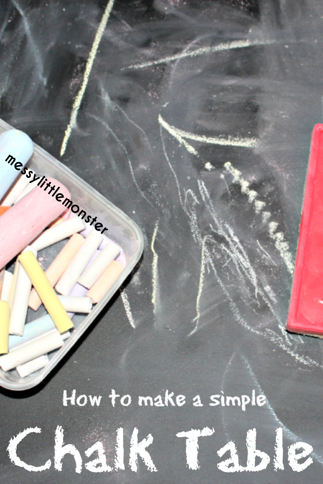How to make a simple DIY chalkboard table