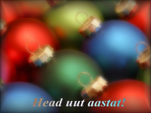 Head uut aastat! Häid jõule! С Новым годом и Рождеством на эстонском