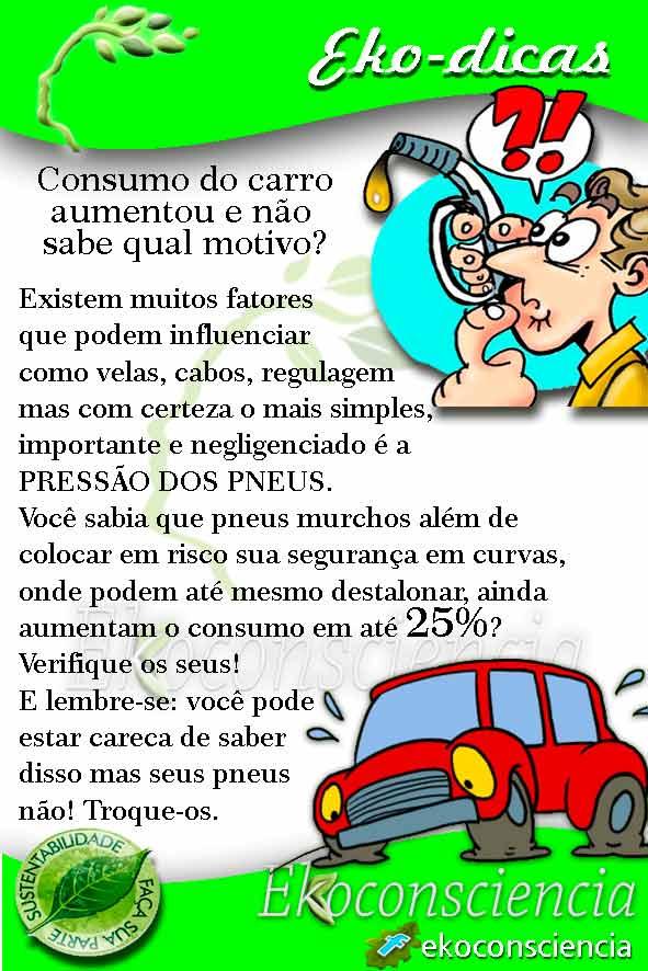 Ekoconsiciencia alerta sobre o consumo com pneus murchos