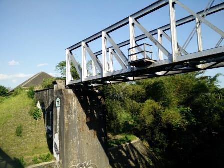 Ujung Timur Jembatan Rel Pangukan