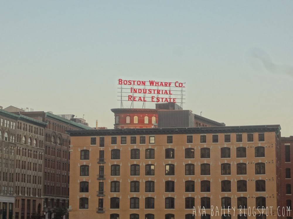 Boston Wharf Company sign in the Fort Point Channel district of Boston