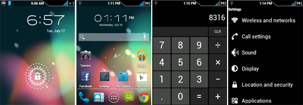 Screenshot Android 4.1 Jelly Bean di Samsung Galaxy Y S5360