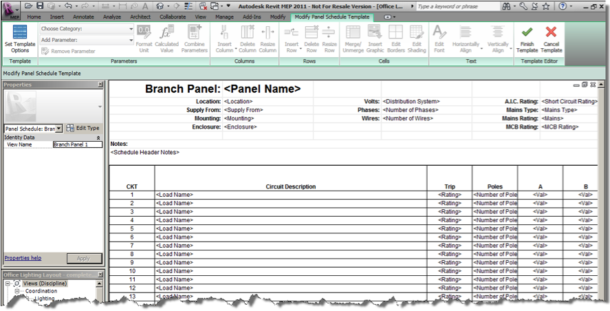Ideate Solutions: Revit MEP Tip - Single Column Panel Schedules