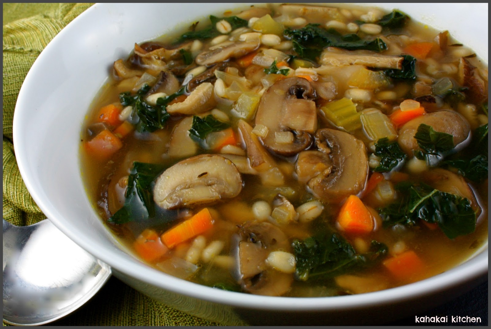 Mushroom-Barley-Kale Soup: Hearty & Healthy for Souper (Soup, Salad or ...