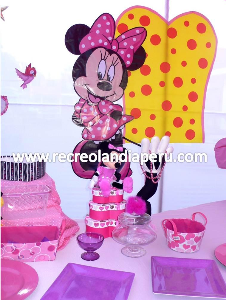 Shows Infantiles Recreolandia Decoraci?n de Minnie Rosada