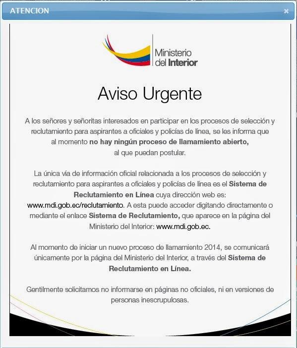 Fuerzas Militares Aviso Urgente Sitio Web De: ministerio del interior pagina oficial