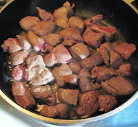 Browning stew meat