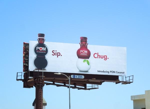Pom Coconut chug billboard