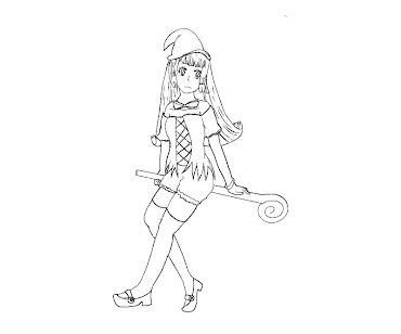 #1 Witch Coloring Page