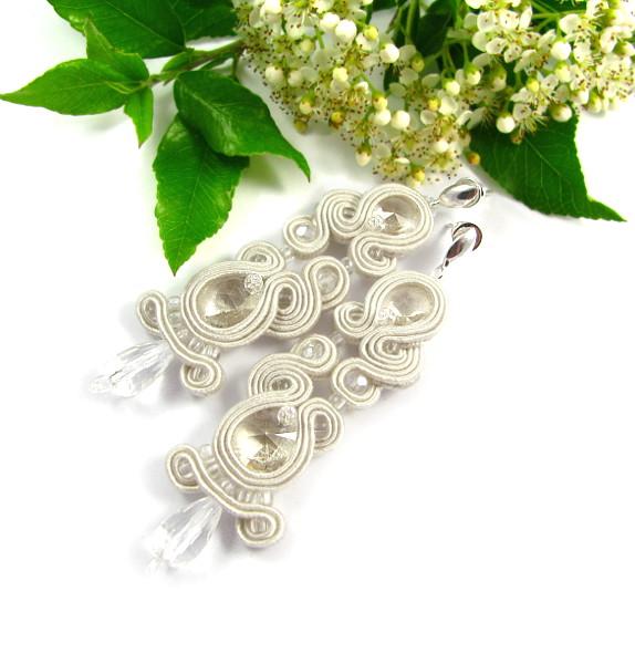 Kolczyki ślubne s kryształami Swarovski